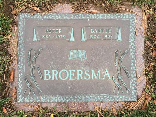 Peter Broersma Grave