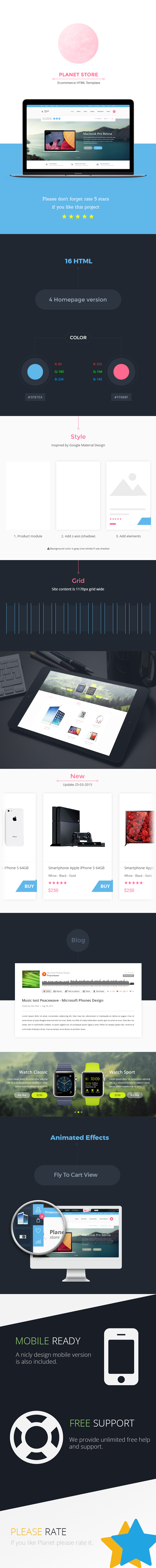 Planet Store - Ecommerce HTML Template