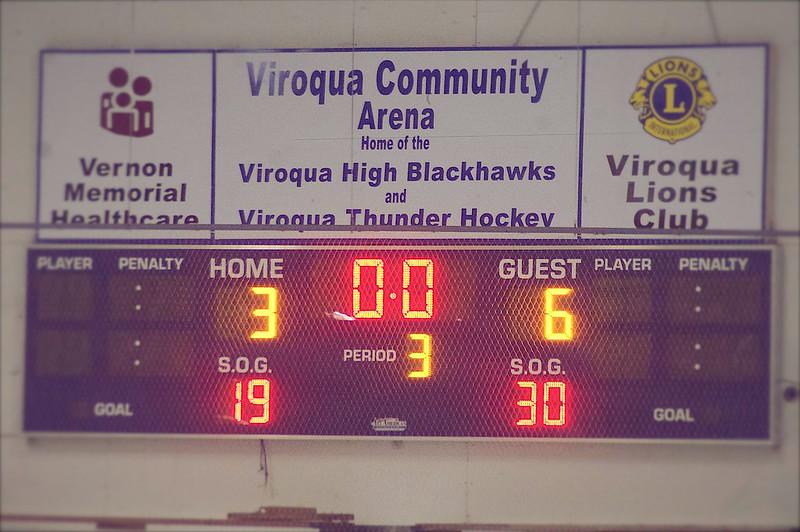 hockey time! viroqua versus reedsburg/wisconsin dells coop.