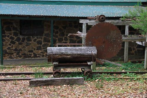 澳洲昆士蘭-Binna Burra Sky Lodges-伐木機具造景-20141121-賴鵬智攝-1
