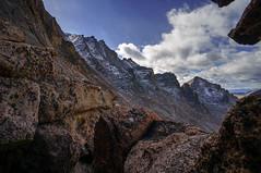 Longs Peak, view from Key Hole, Colorado, USA