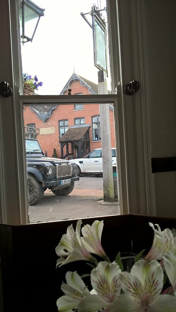 View of Frant village from inside the George inn