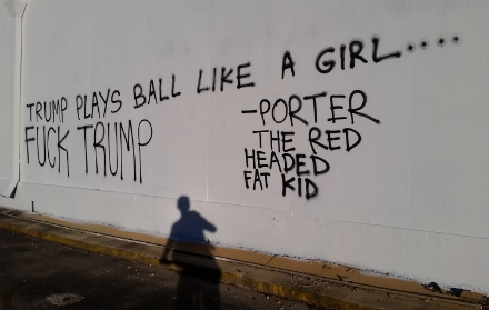 Trump Plays Ball Like a Girl