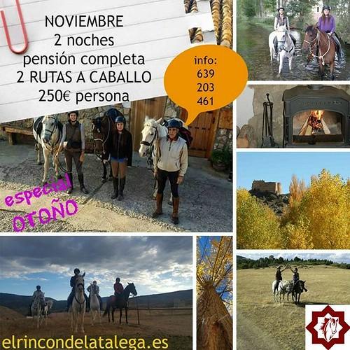 En noviembre  disfruta del #otoño2016 en la #SierraDeAlbarracín  a #caballo  con nosotros