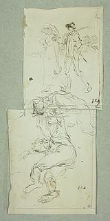 MILLET Jean-François,1850 - Départ pour le Travail, Etude - The Walk to Work  (drawing, dessin, disegno-Louvre RF11191) - 0