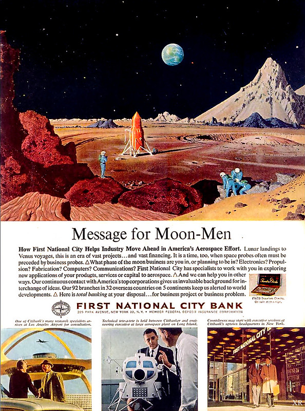 1963 ... banking on the moon!