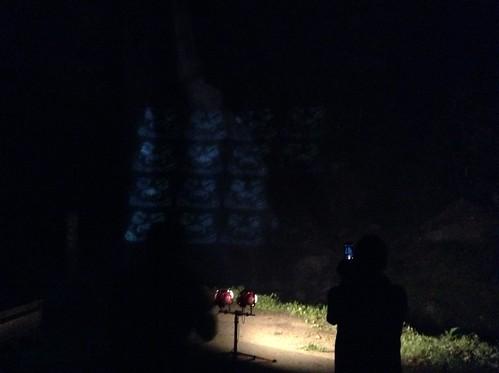 20150815不動滝プロジェクトマッピング