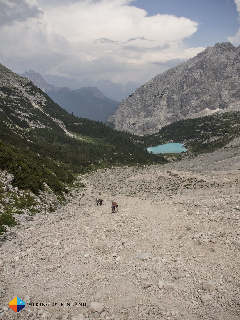 Lago di Sorapiss and a wonderful scree field