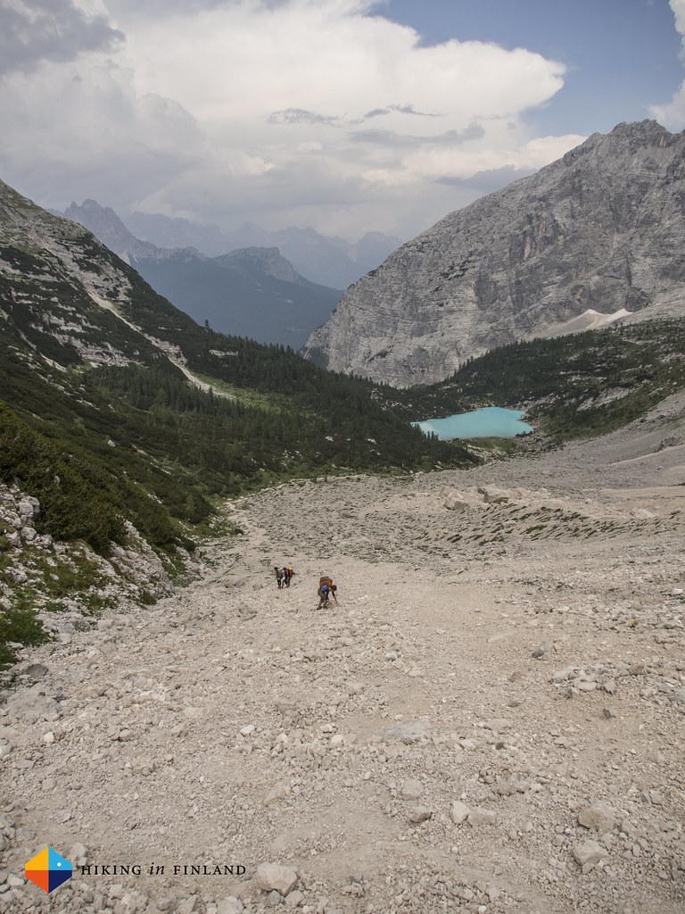 Lago di Sorapiss and a wonderful scree field