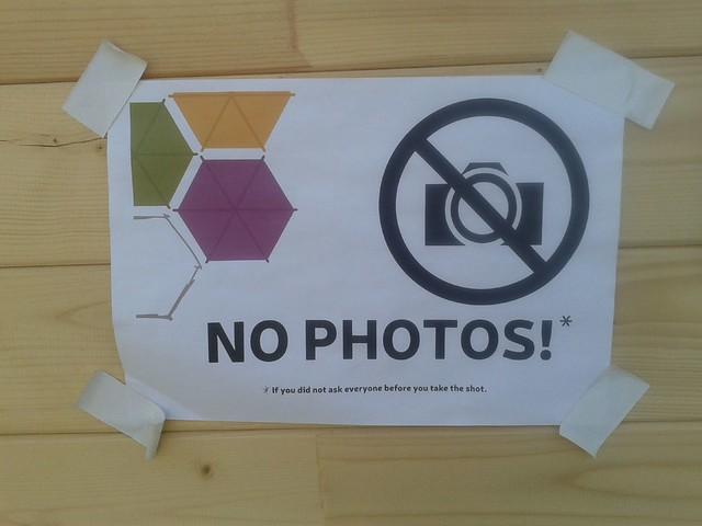 No Photos!*