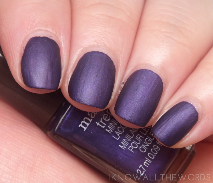 mark meets matte fall 2015 Nailed It Matte Trend Mini Nail Lacquers  violet riot