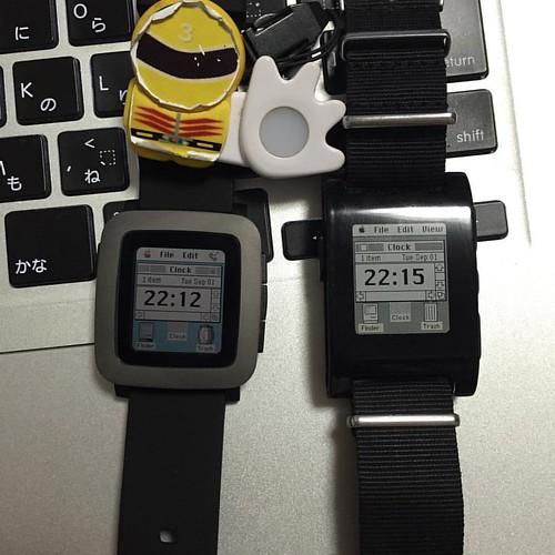 PebbleとPebble TimeでMacOS(classic)っぽいWatchfaceを表示してみました。