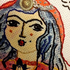 #Bluepersiandesign #needlepoint #needlecraft #embroideryart #Persian girl#Persian