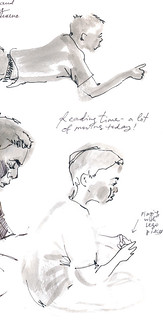 Sketchbook #92: Lots of reading in September