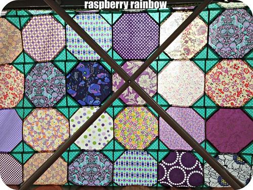 The purple quilt.