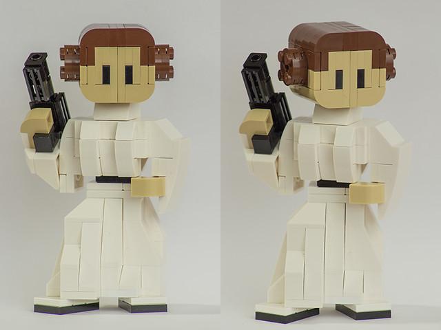 Brick figurine: Leia