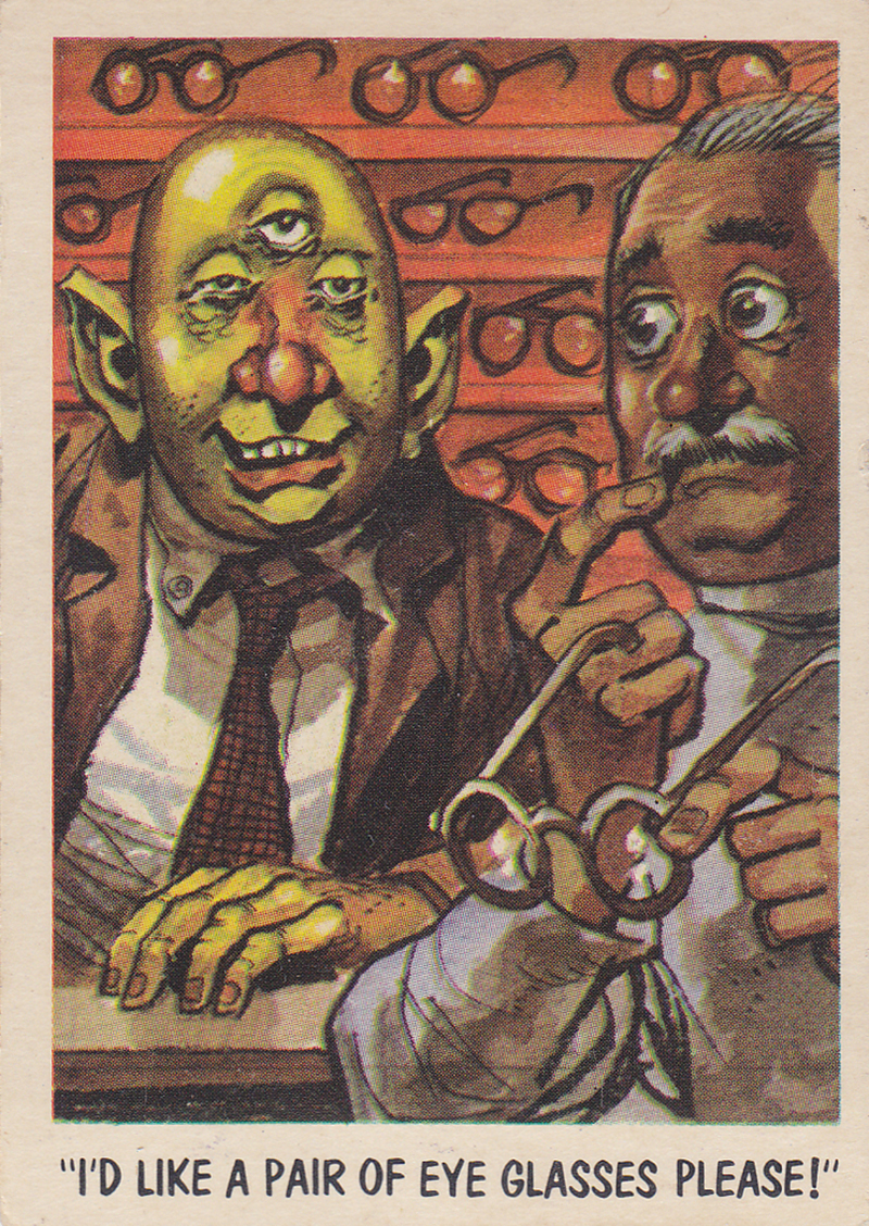 """You'll Die Laughing"" Topps trading cards 1959,  illustrated by Jack Davis (02)"