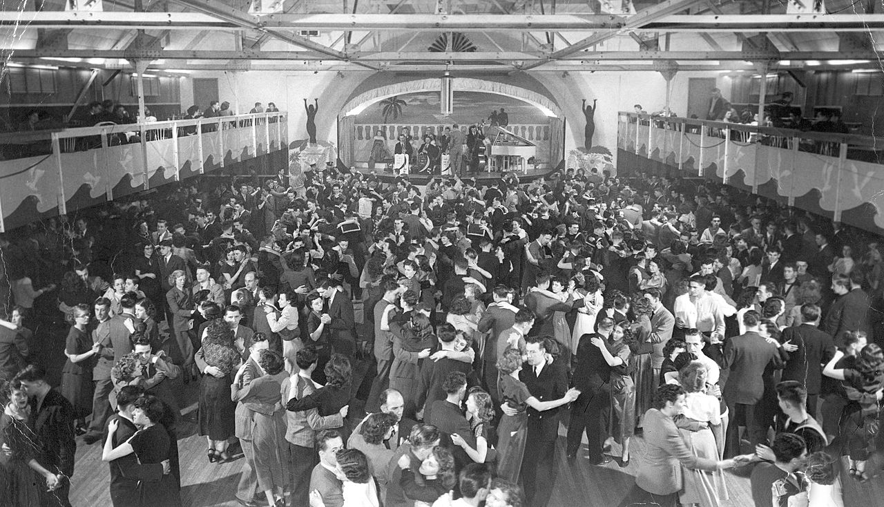 Olympic Gardens Dance Hall, Hunter Street, Halifax, Nova Scotia, Canada, ca. 1948