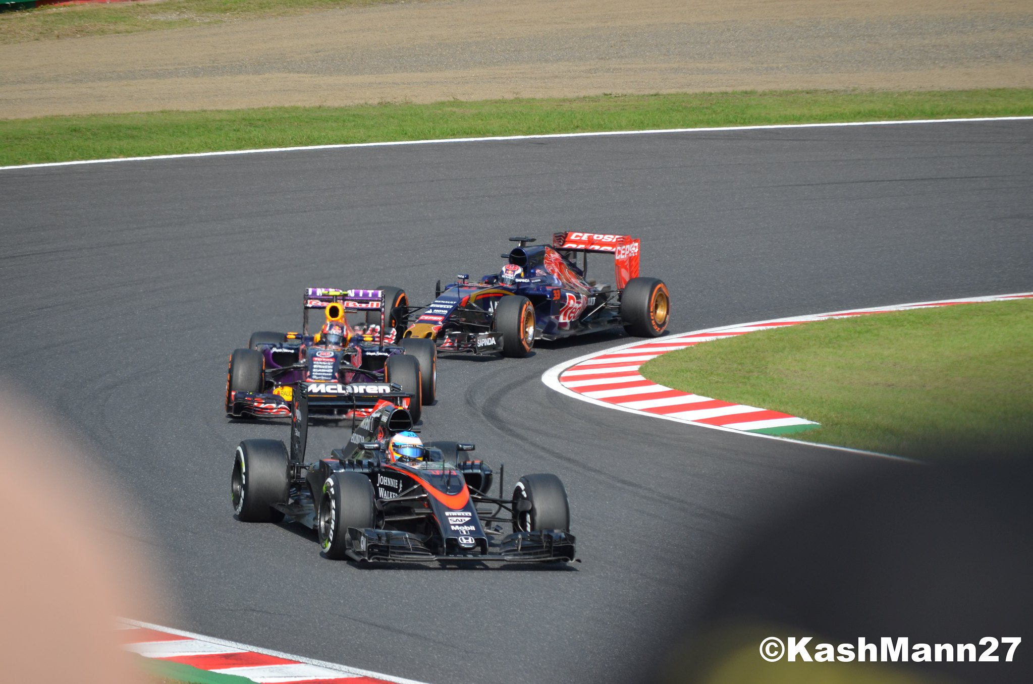 Alonso vs Kvyat vs Verstappen