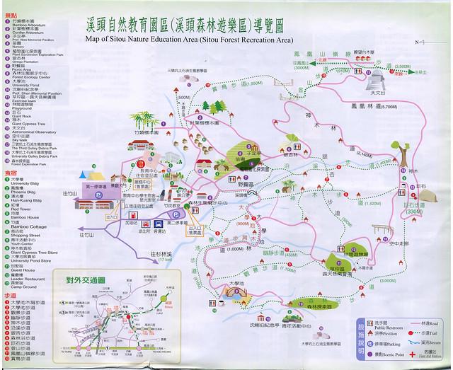 溪頭森林步道圖