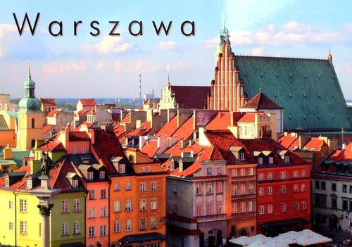 Warszawa, Poland - Postcrossing incoming