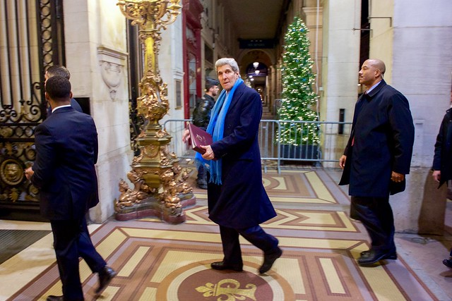 Secretary Kerry Arrives for COP21 in Paris, France