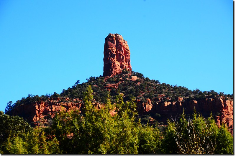 The Chimney Rock is taken from Dry Creek Road