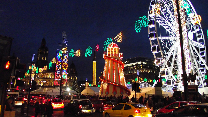 Christmas market in Glasgow, Scotland. Credit byronv2