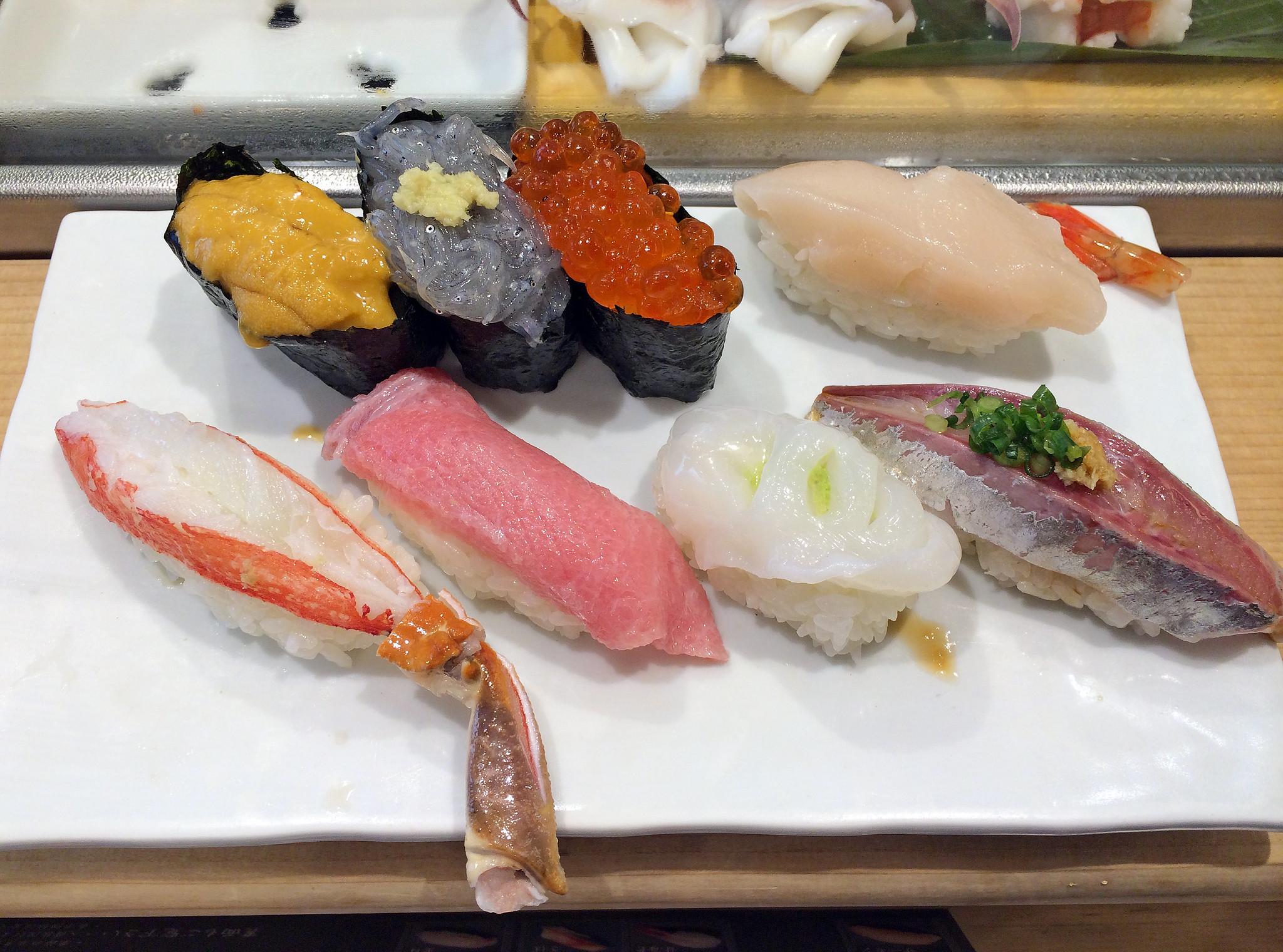 Breakfast sushi at Tsukiji Market