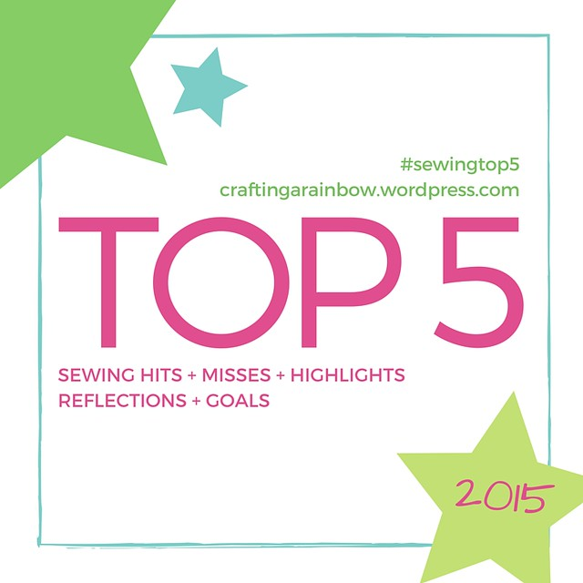 #sewingtop5 - The Top 5 of 2015!