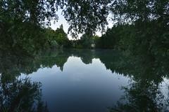 Le second étang au crépuscule