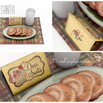 Dear Santa Cookies Set 3D Model