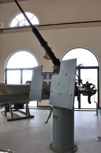 Circa 1940 20mm Mk II Oerlikon anti aircraft gun on a Mk VII gun mount