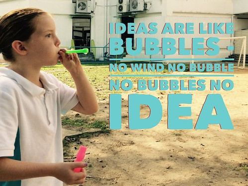 Bubbles are like ideas