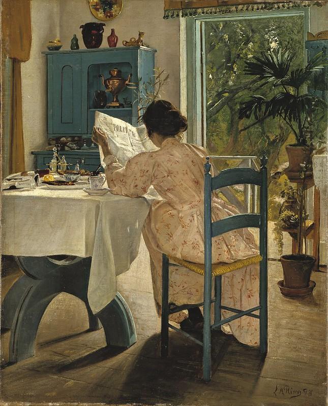 Laurits Andersen Ring - Ved frokostbordet og morgenaviserne (1898)