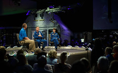 Astronauts Virts and Cristoforetti at NASM (NHQ201509170010)