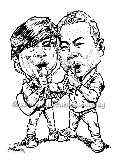 黎沸挥和巫启贤 digital caricature for Mediacorp TV Singapore Pte Ltd (watermarked)