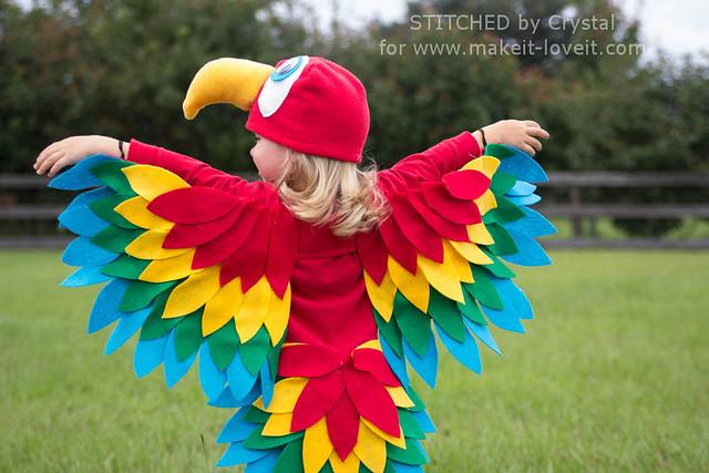 Fatos de Carnaval de Animais papagaio