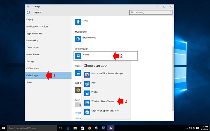 How to customize default app in Windows 10 -2