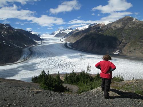 Jayne at Salmon Glacier