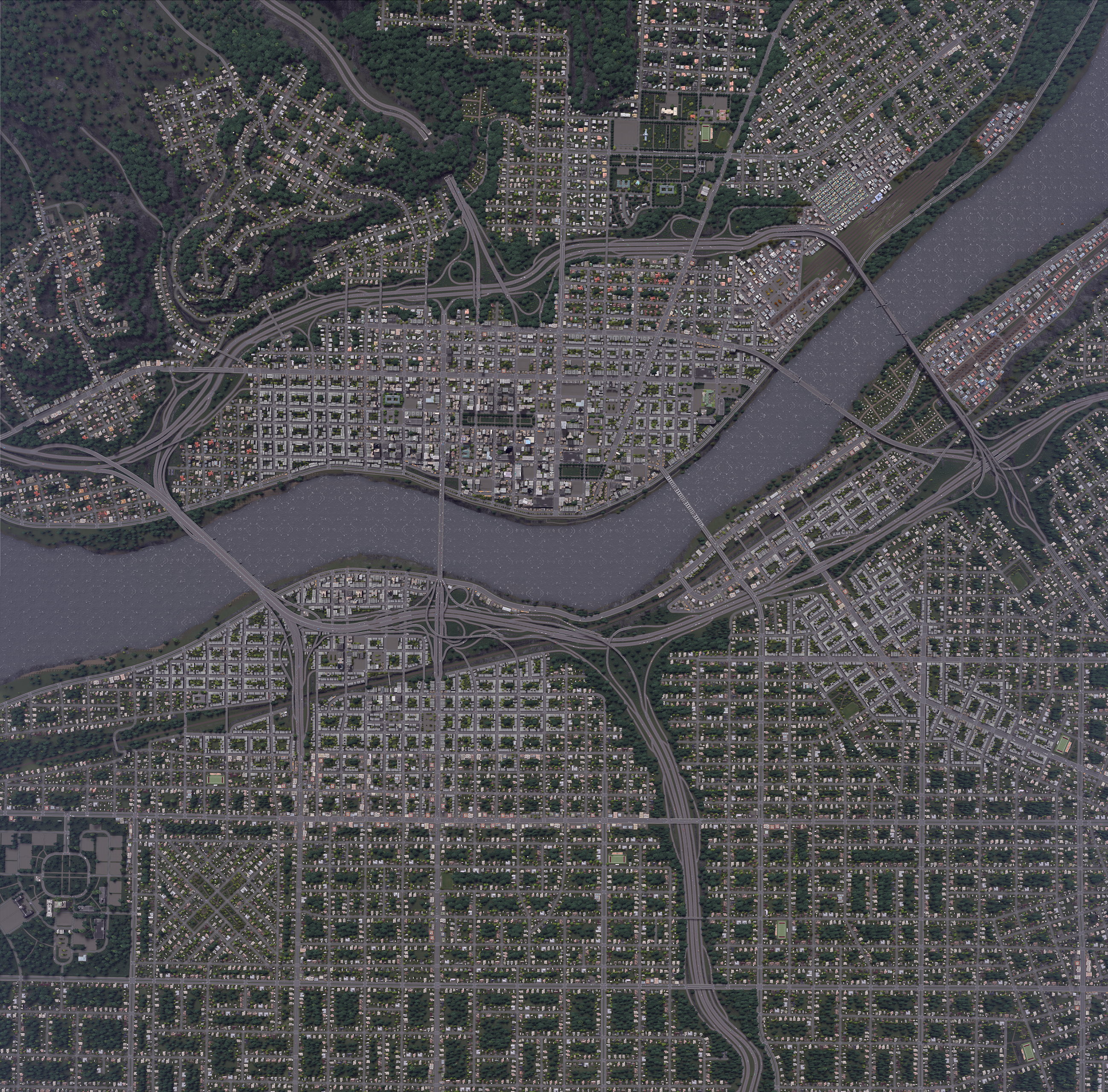 Limit Reached Again Satellite View Of This City CitiesSkylines - Real life satellite view