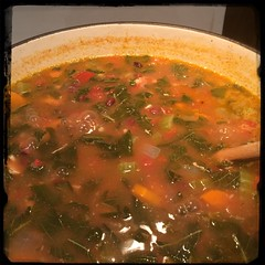 #Homemade #Callaloo #Chicken and #Tomato #Soup #CucinaDelloZio