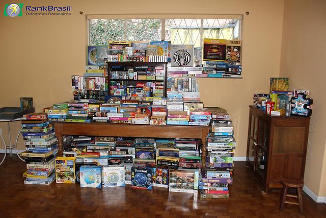 Maior coleção de quebra-cabeças