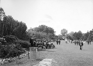 People strolling and sunning themselves in a park (Phoenix Park)