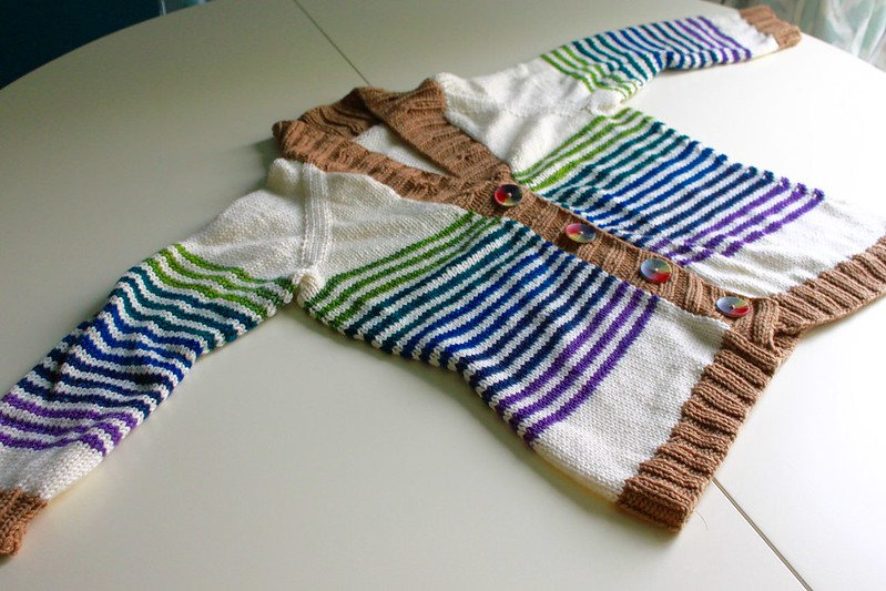 Custom striped cardigan