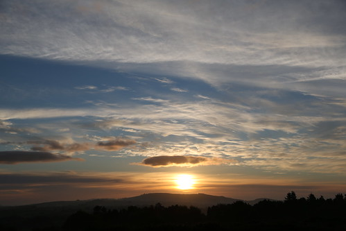 morning ireland sky sun clouds sunrise view horizon wicklow rathdrum ballygannon