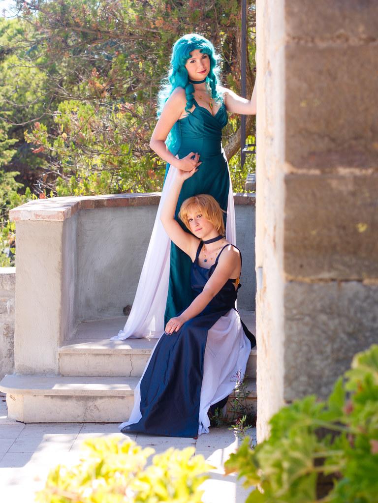 related image - Shooting Sailor Neptune - Sailor Uranus - Castel Sainte Claire - Hyères - 2015-09-20- P1210918