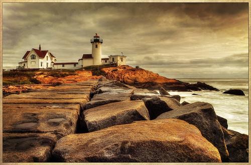 ocean light lighthouse texture point ma harbor massachusetts gloucester eastern hdr