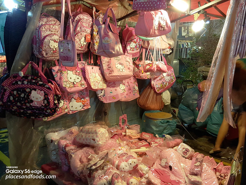 Talad Rot Fad Srinakarin Train Market hello kitty stall