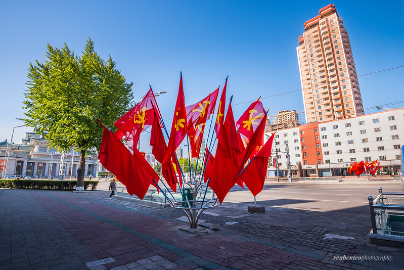 Workers' Party Flag across Pyongyang